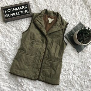 Orvis Barn Vest Quilted Olive Dark Green XS